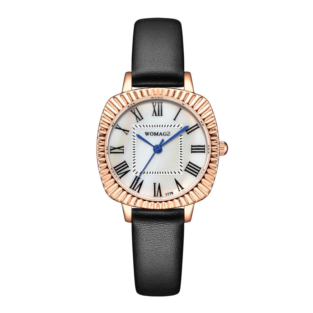 Reloj de cinturón fino con esfera ovalada de moda NHSS300605
