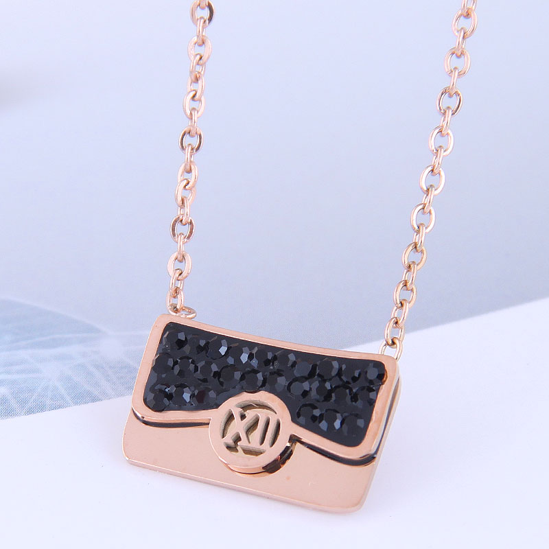 bolso simple de moda collar de acero titanio NHSC315452