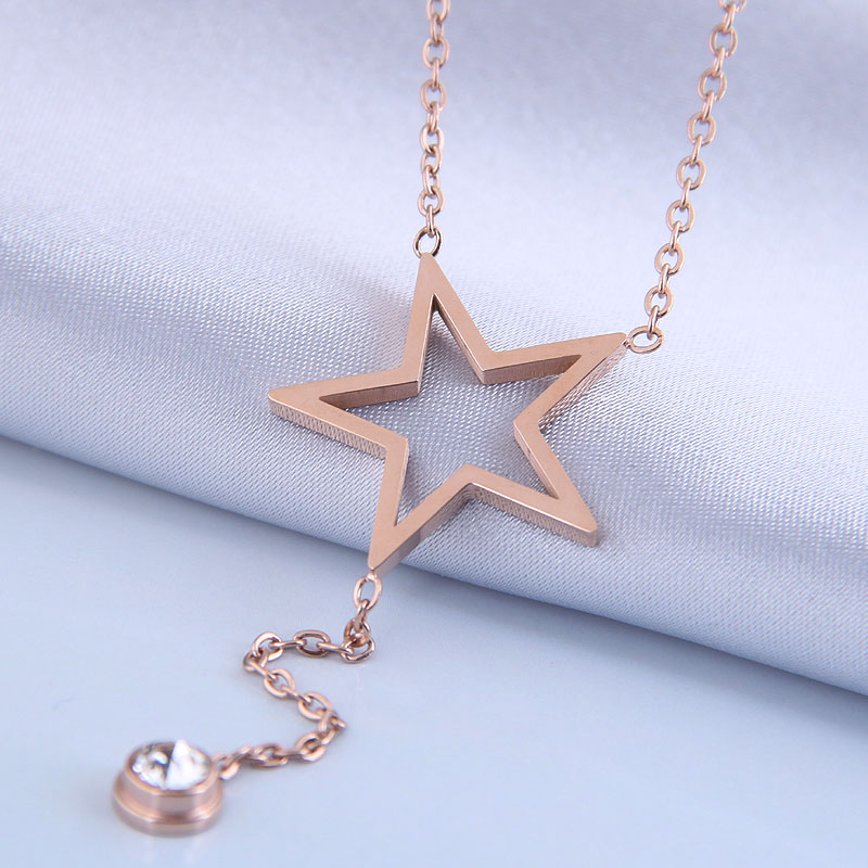 Collar de acero de titanio de meteorito OL dulce de moda coreana NHSC315450