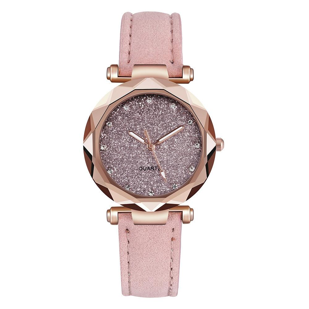 Reloj de cuarzo simple de moda estrellada de diamantes de imitación NHSY315845