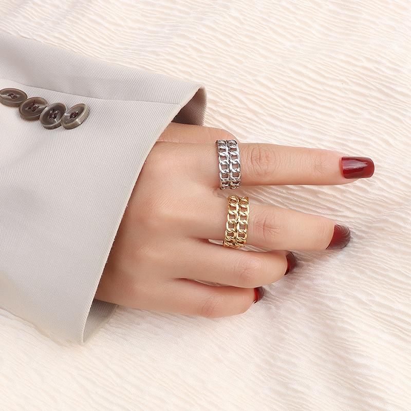 anillo de acero de titanio de empalme de doble capa NHOK317138