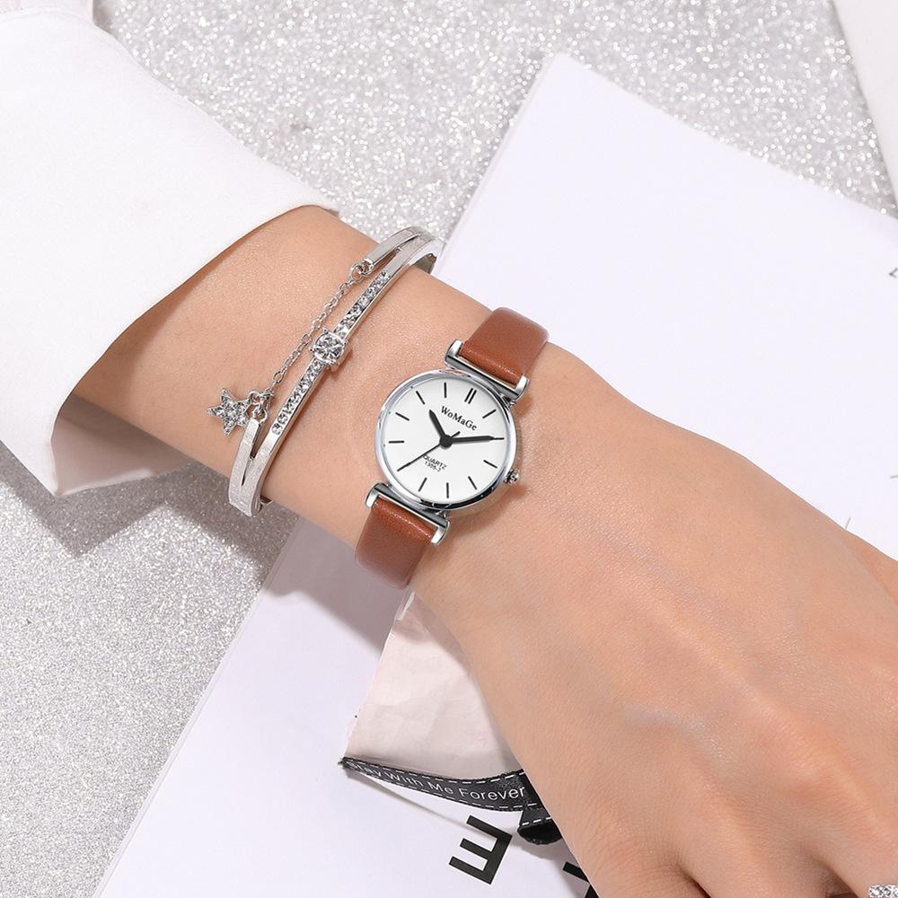 Reloj de cuarzo pequeño con cinturón de moda NHSY317699
