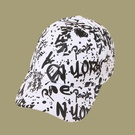 NHTQ1462768-Alphabet-Graffiti-Baseball-Cap-White-adjustable