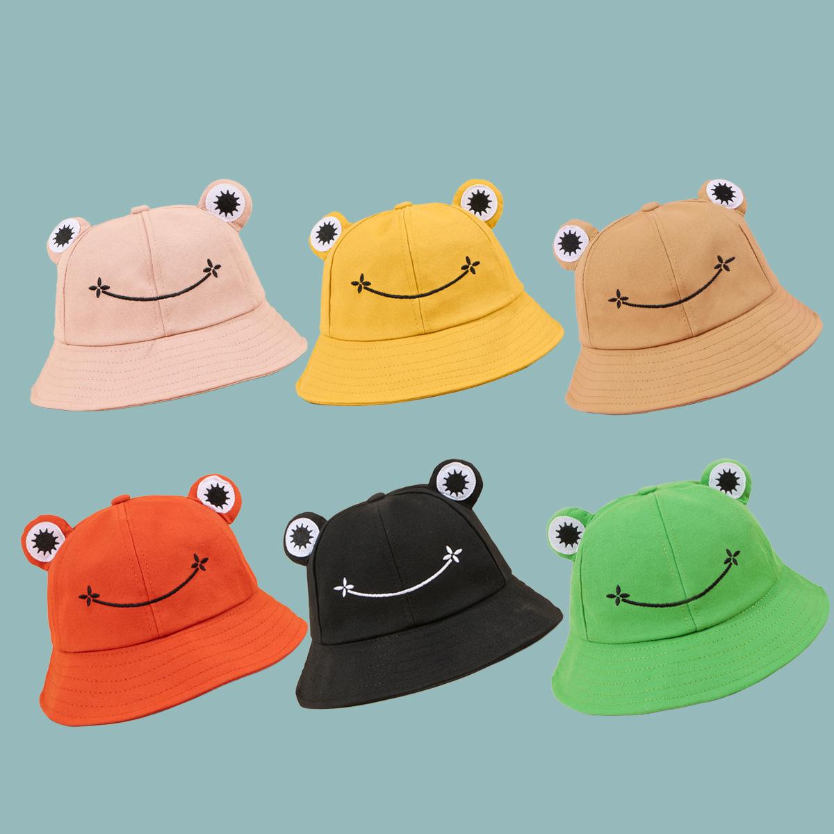 Nuevo sombrero de pescador de rana de primavera coreana NHTQ317565
