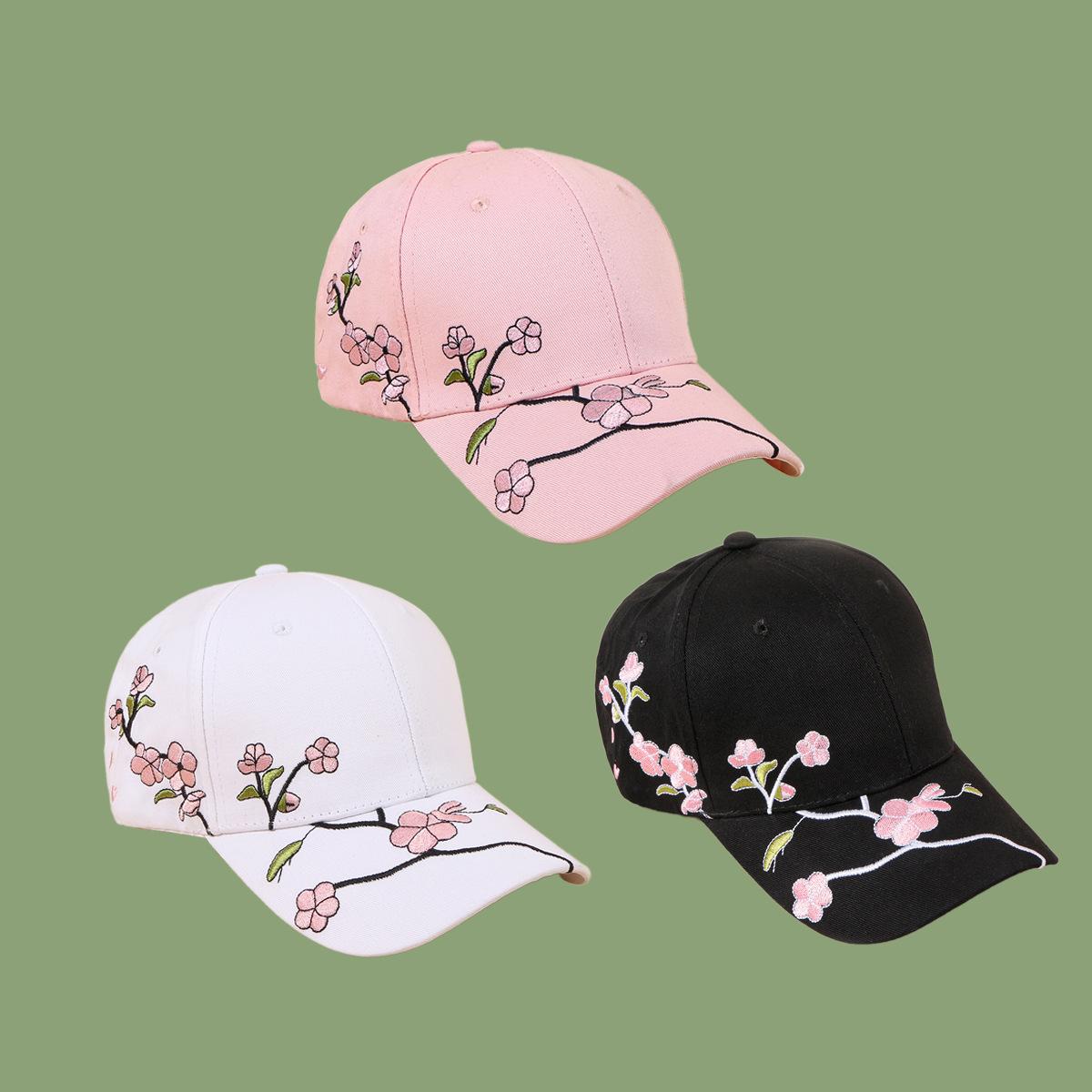Gorra de béisbol de ciruela con bordado salvaje de moda coreana NHTQ317577