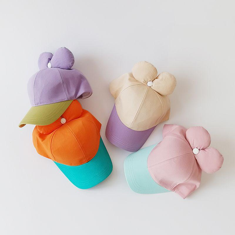 gorra de béisbol infantil bowknot color a juego NHQU317642