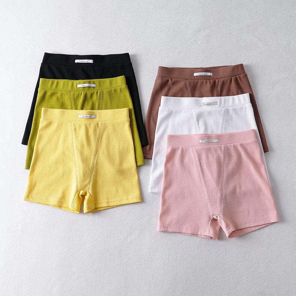 pantalones de ciclismo pitillo elásticos de canalé multicolor NHAM314400