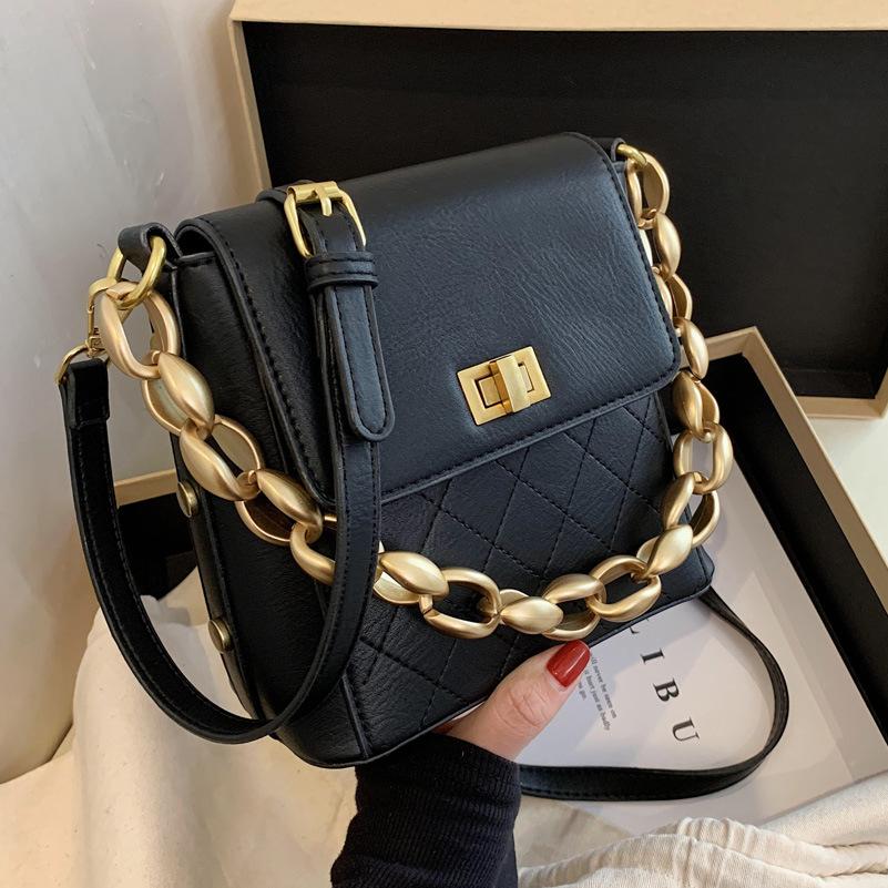 Bolso portátil de hombro de color sólido de moda NHTG325877