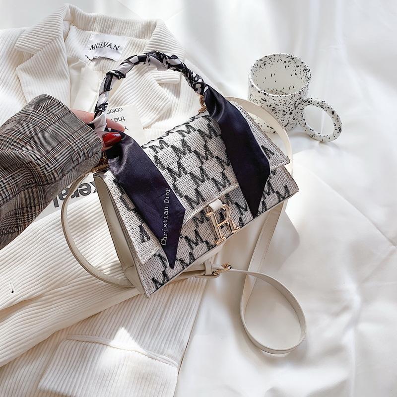bolso de mensajero de impresión de asa de seda de moda NHJZ337561