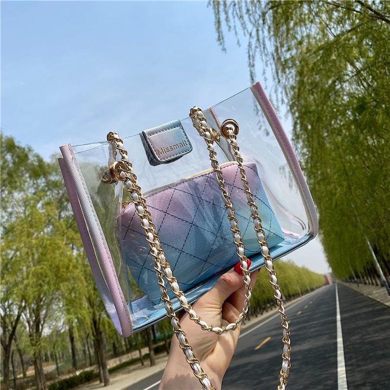 bolsa de gelatina transparente de cadena de moda NHJZ339228