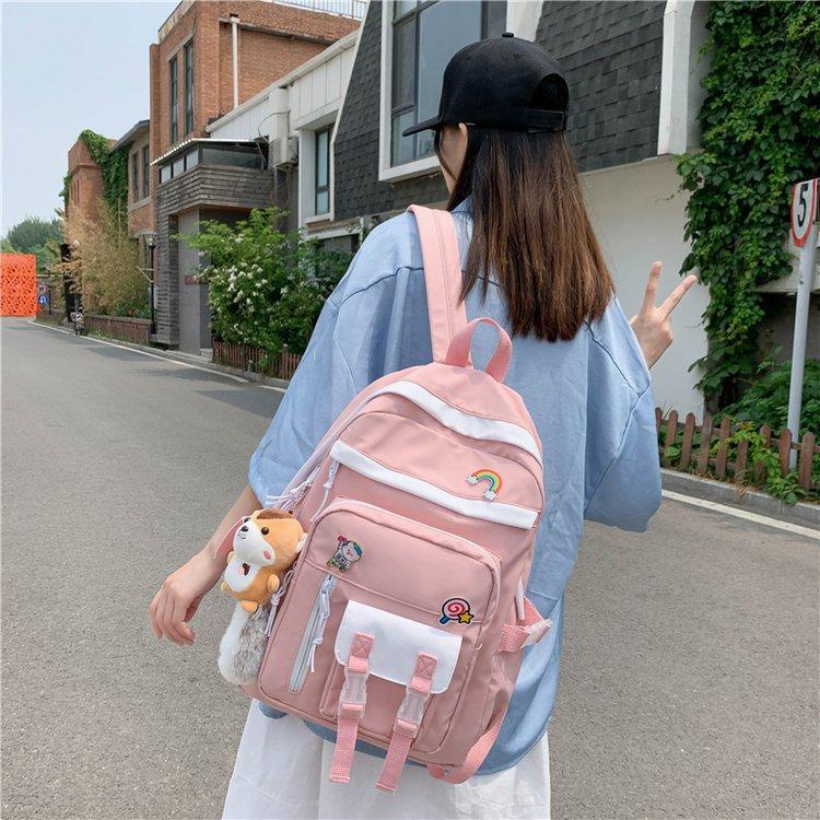 Al por mayor mochila de gran capacidad en contraste de color  NHTG388393