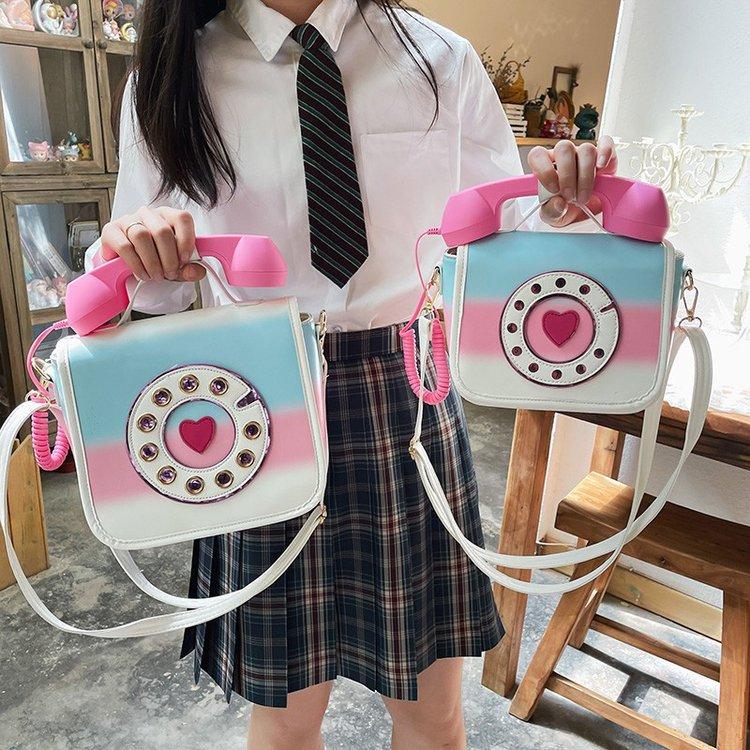 wholesale bolso de mensajero de teléfono de color degradado creativo de moda  NHTG388394