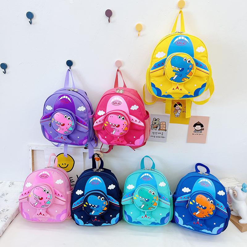 Al por mayor mochila de dinosaurio para niños de dibujos animados  NHTG388425