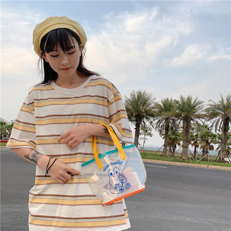 wholesale lindo bolso transparente de jalea de hombro de pvc  NHTG388403