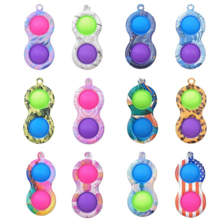color dedo descompresión ventilación juguete colgante llavero al por mayor  NHZHI389865