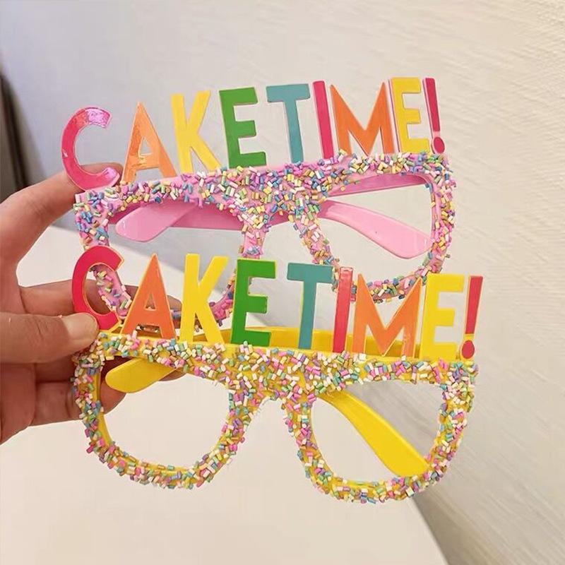 Al por mayor decoración de gafas de cumpleaños de color caramelo  NHAH389925