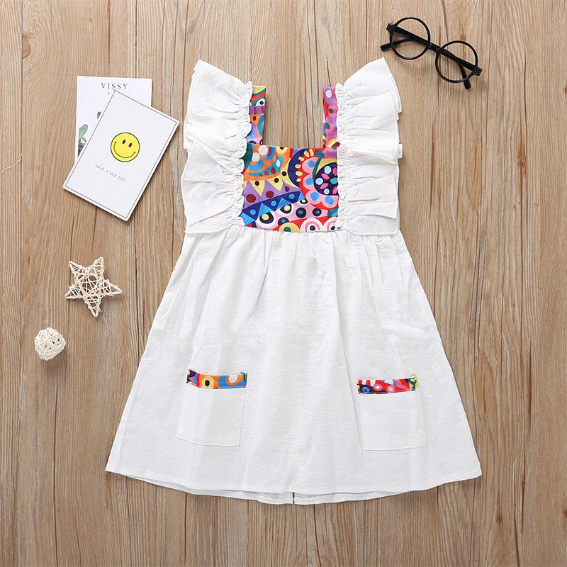 Al por mayor vestido floral sin mangas para bebé  NHLF390151