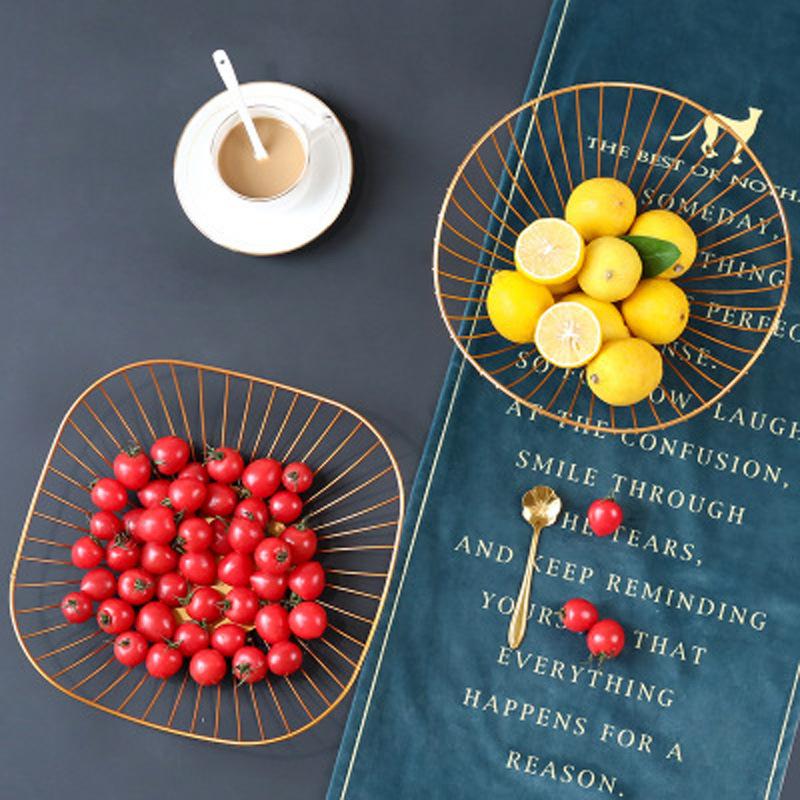 Al por mayor canasta de almacenamiento de bocadillos de frutas de forma geométrica de escritorio  NHAW390363