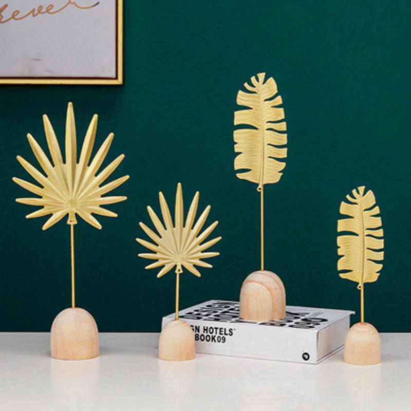 adornos de almacenamiento de joyería de hoja de tortuga con base de madera al por mayor  NHAW390368
