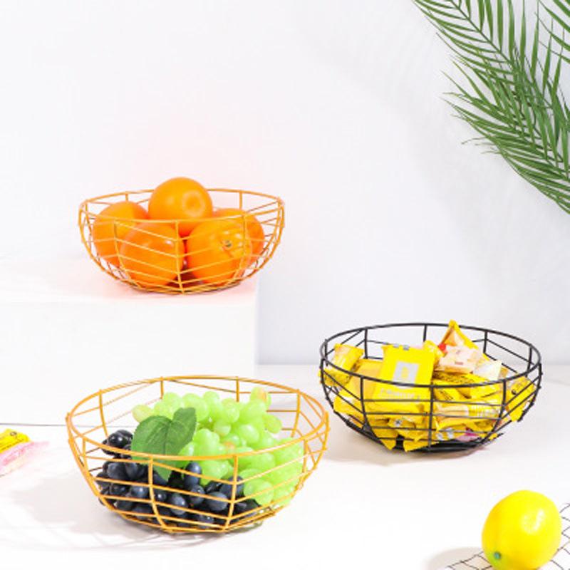 Al por mayor bandeja de almacenamiento hueca de metal para bocadillos de frutas de escritorio  NHAW390373