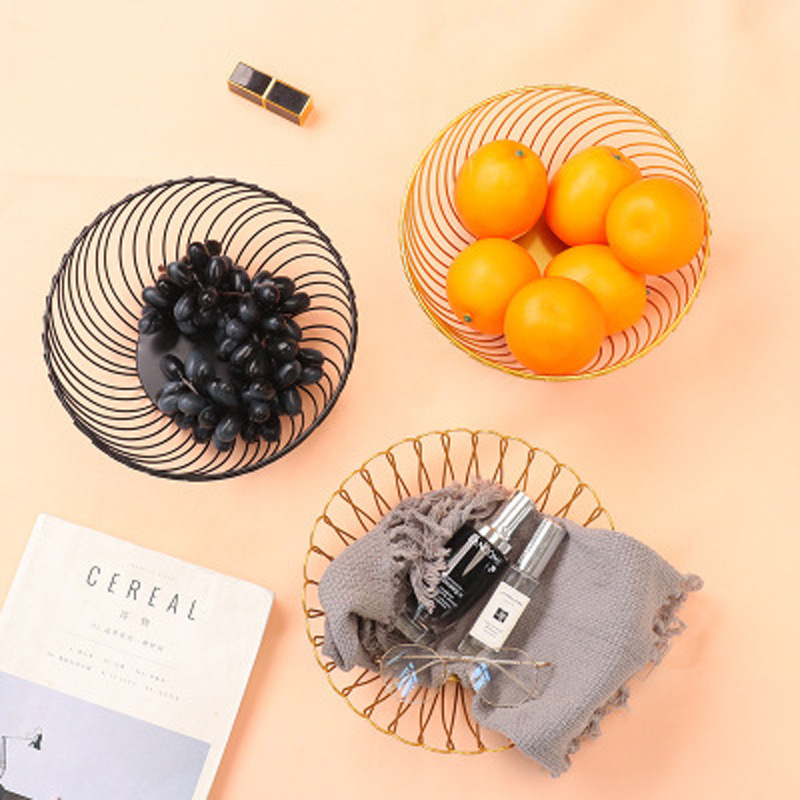Al por mayor canasta de frutas de almacenamiento de bocadillos de escritorio en forma de pétalo  NHAW390374