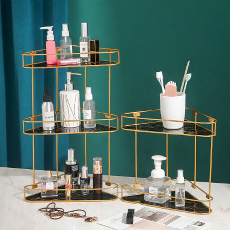 Al por mayor estante de almacenamiento de cosméticos de múltiples capas con patrón de mármol  NHAW390375