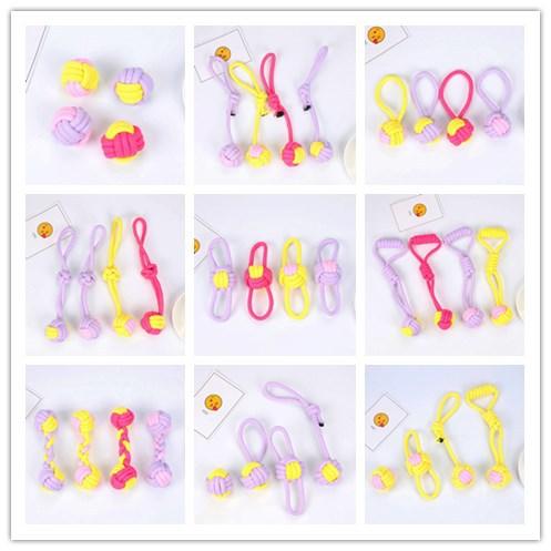 wholesale bola de juguete para mascotas de cuerda de algodón tejida resistente  NHWY390395