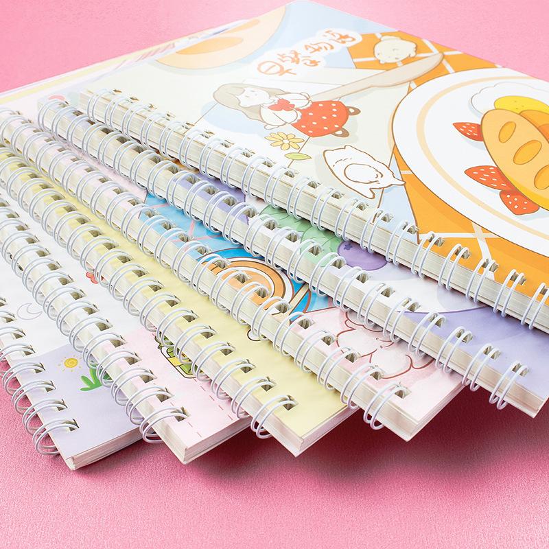wholesale dibujos animados de 120 páginas de grosor línea horizontal A5 cuaderno de bobina  NHWQ389804