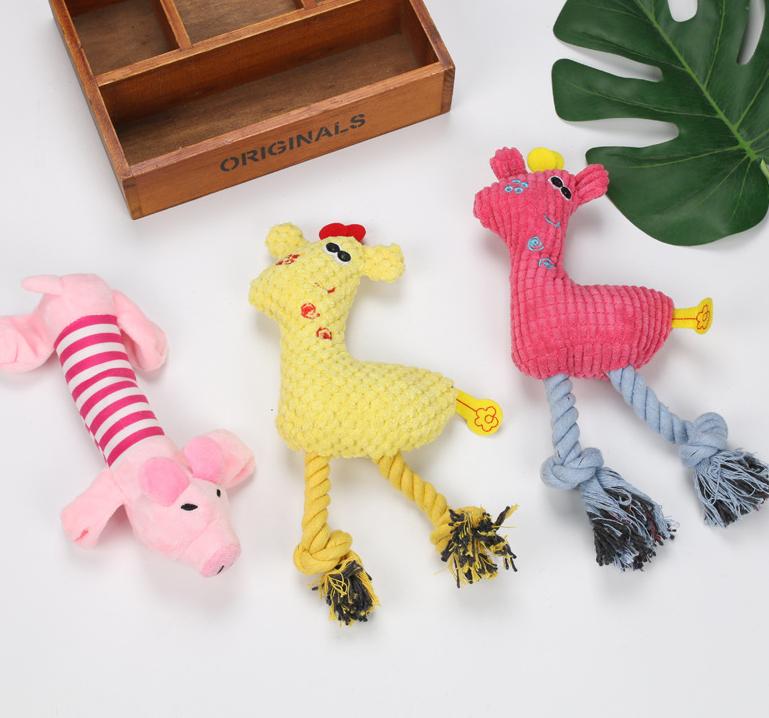 Al por mayor perro de maíz ciervo forma de cerdo mascota juguete de peluche  NHWY390396