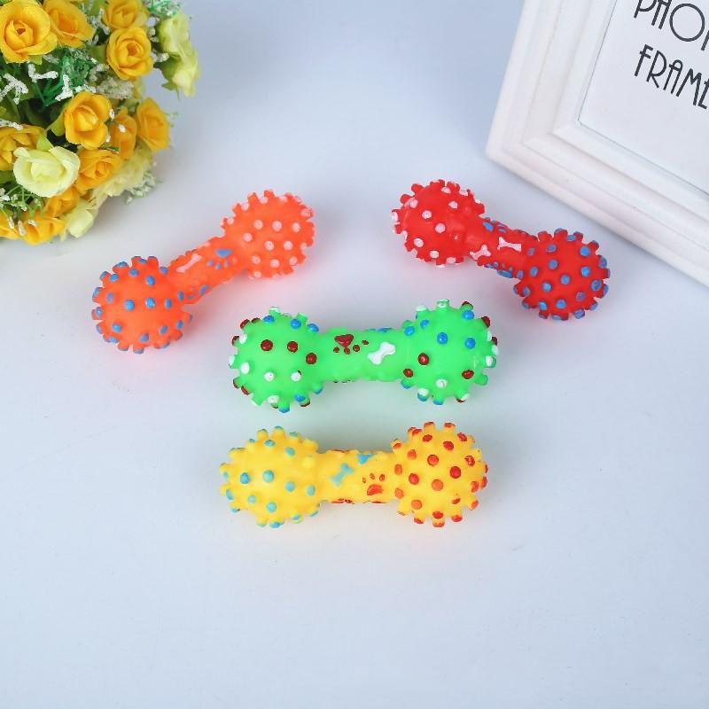 al por mayor de juguetes coloridos con mancuernas para mascotas  NHWY390399