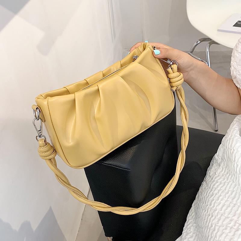 Al por mayor bolso de sillín cuadrado de color sólido bajo el brazo  NHLH390598