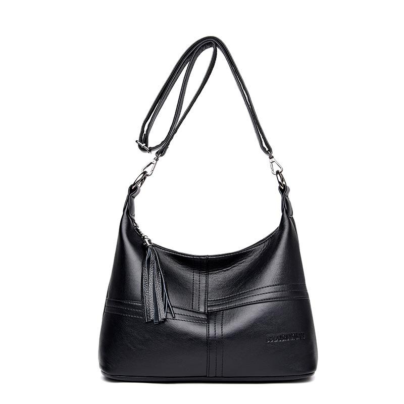 Joyería al por mayor de moda de alta capacidad de hombro de color sólido bolso diagonal  NHAV392644