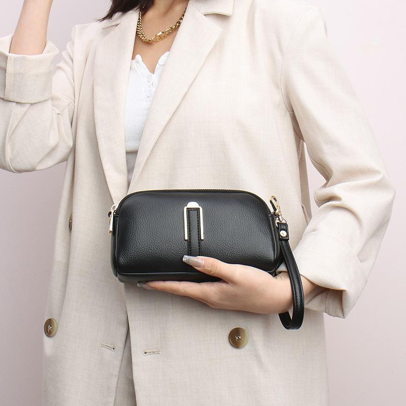 wholesale bolso de teléfono móvil de color sólido con cremallera retro  NHAV392646
