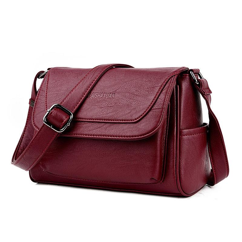 Al por mayor retro nuevo bolso de hombro diagonal de cuero suave  NHAV392647