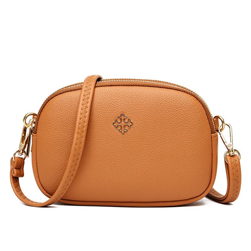 wholesale tendencia de la moda con cremallera de metal bolso diagonal de un solo hombro  NHAV392658