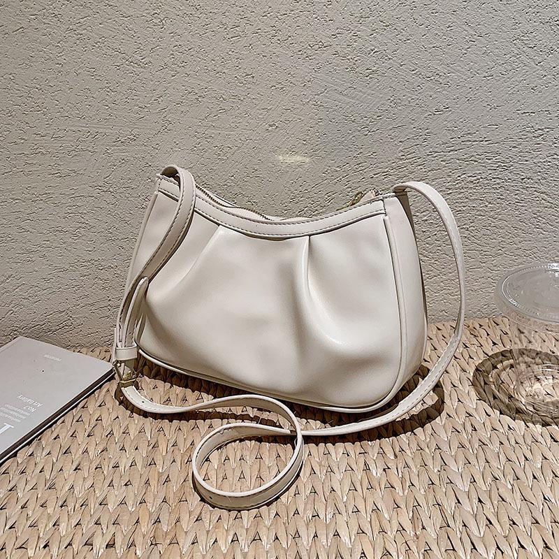 bolsa de axila de un solo hombro de textura simple al por mayor  NHGN392840