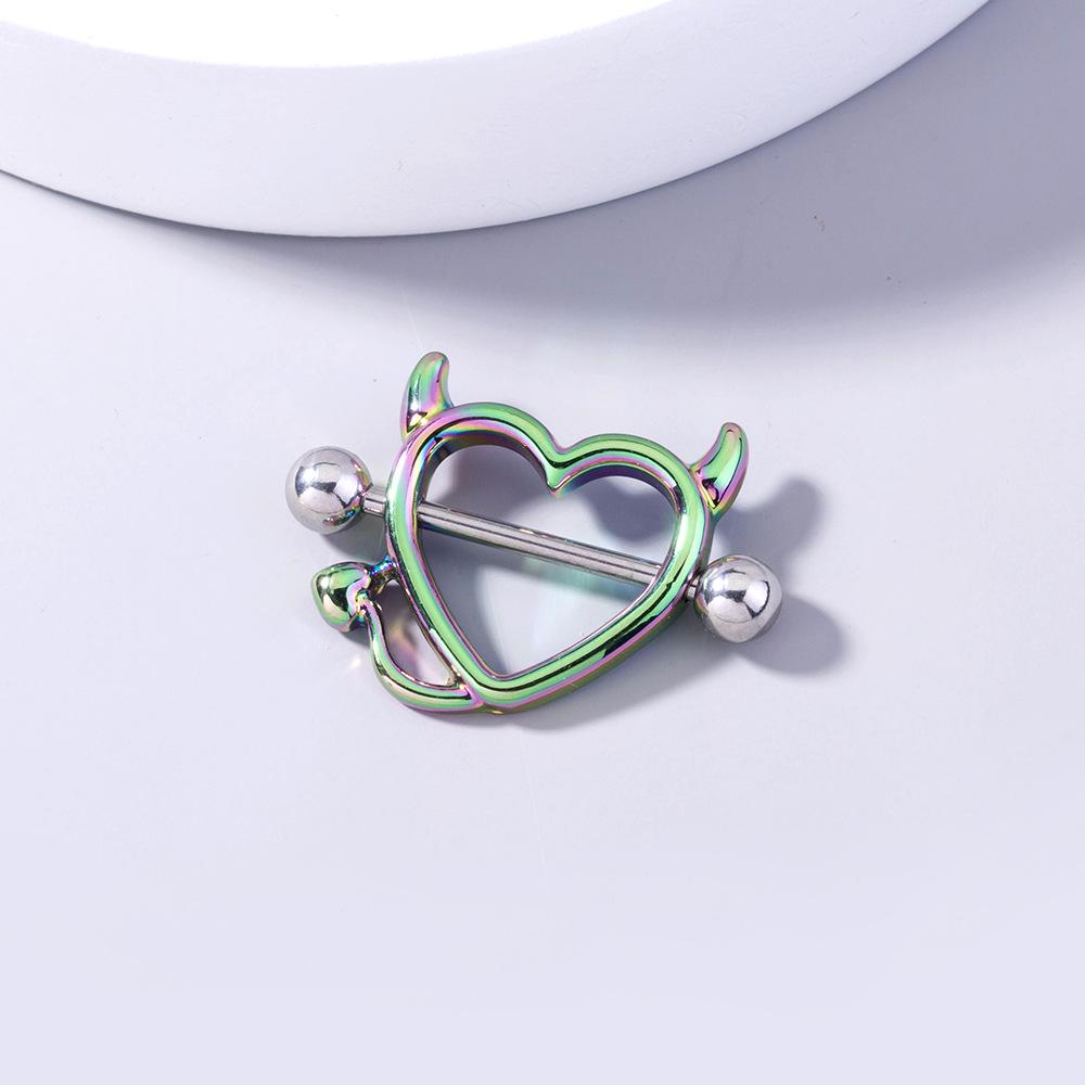 Al por mayor joyería monstruo diablo corazón anillo de pecho de acero inoxidable  NHDB393202