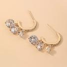 NHNJ1824222-Silver-Needle-Golden-C-shaped-Earrings