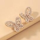 NHNJ1824213-Silver-Post-Golden-Butterfly-Stud-Earrings
