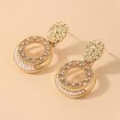 NHNJ1824259-Silver-Post-Golden-Circle-Earrings