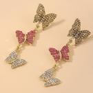 NHNJ1824234-Silver-Post-Butterfly-Earrings