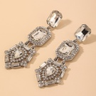 NHNJ1826852-Silver-Needle-Silver-Crystal-Earrings