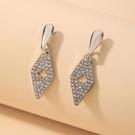 NHNJ1826834-Silver-Needle-Silver-Geometric-Earrings