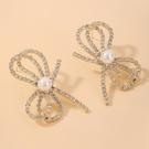 NHNJ1826855-Silver-Post-Golden-Bow-Earrings