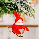 NHHB1837125-Pompom-doll-skiing-small-hanging-red