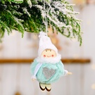 NHHB1837126-Pompom-doll-skiing-small-hanging-blue