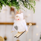 NHHB1837129-Pompom-doll-skiing-small-hanging-white