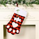 NHHB1837182-Dog-paw-plaid-socks-red-and-black