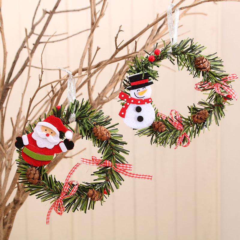 wholesale Nuevas decoraciones navideñas para colgar en la puerta de la corona de ratán  NHMV394471