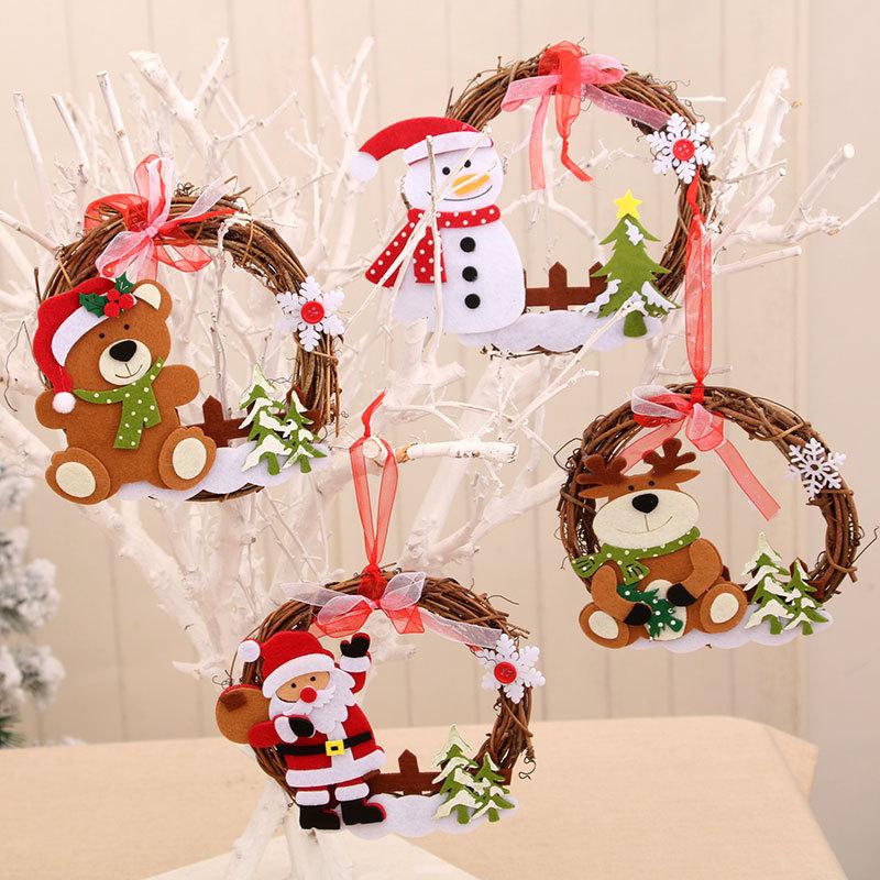 wholesale nueva guirnalda de ratán de madera decoraciones navideñas  NHMV394477